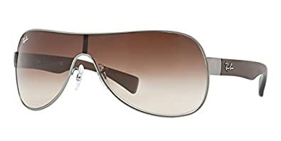 e8332f2adf76 Image Unavailable. Image not available for. Color  New Ray Ban RB3471 029 13  Matte Gunmetal Brown Gradient 32mm Sunglasses