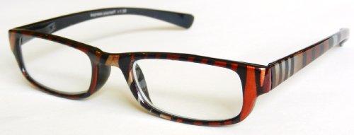 - Zoom Metalic Animal Print Plastic Reading Glasses -D28 (+1.75)
