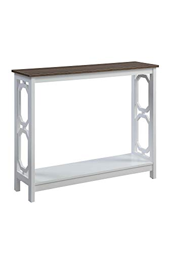 Convenience Concepts Omega Console Table, Driftwood Top White Frame