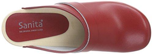 Sanita Rita Open - Zuecos Unisex adulto Rot (red 4)