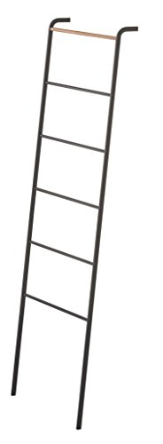 YAMAZAKI home Tower Leaning Ladder Rack Black (Wood Ships Ladder)