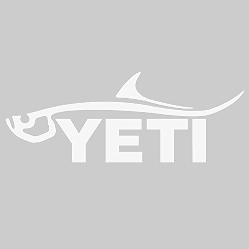 YETI Sportsman's Decal Tarpon White