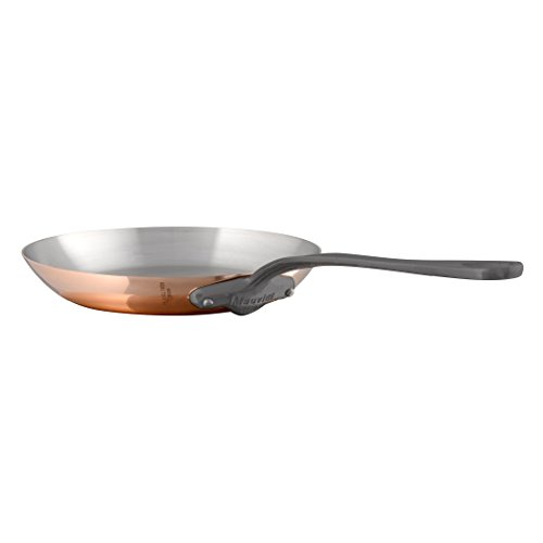 Mauviel Made In France M'Heritage Copper 150c 6413.30 12-1/2-Inch Round Fry Pan with Cast Iron ()