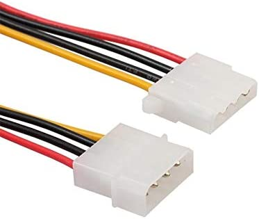 Cables 5PC Molex Extension Cable 4 Pin 5.25 Male to Female IDE PSU Internal PC Power Cable Adapter Oct26 Cable Length: 0.2m