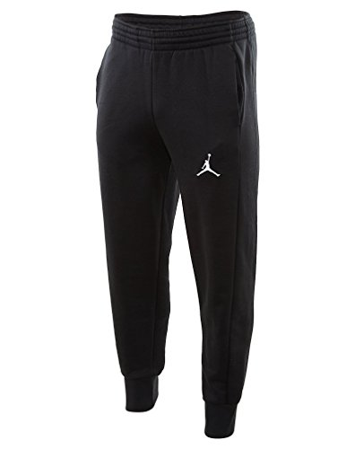 Nike Mens Jordan Flight Basketball Ribbed Cuff Sweatpants Black/White 823071-010 Size 2X-Large by NIKE