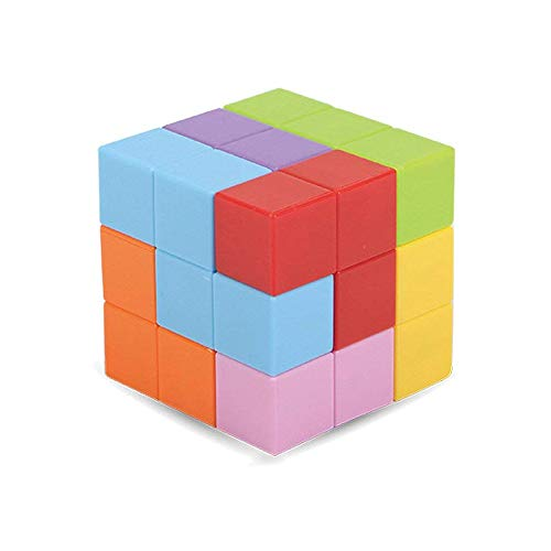(Wtohobby Magnetic Soma Cube Block - Educational Magnetic Tiles for Kids Stress Relief Toy Puzzle Cubes to Develops Intelligence, Ideal for Birthday Gifts (Opaque))