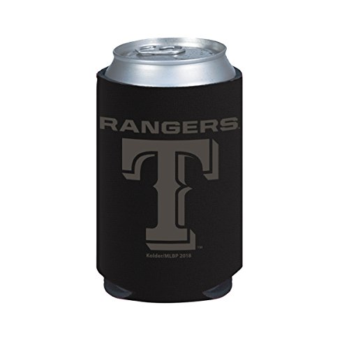 - Texas Rangers 2-Pack BLACK TONAL CAN Koozie Neoprene Holder Cooler Baseball