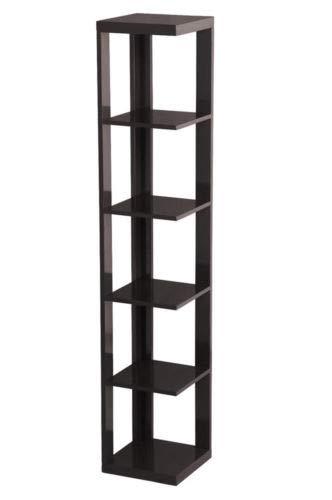 Tonyang Shelf Ladder 5 Tier Bookcase Bookshelf Leaning Wall Corner Storage Display Room