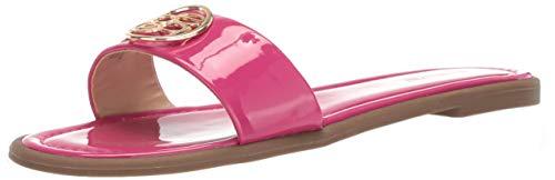 bebe Women's Leone Sandal, Hot Pink Patent, 8.5 Medium US - Hot Pink Slide