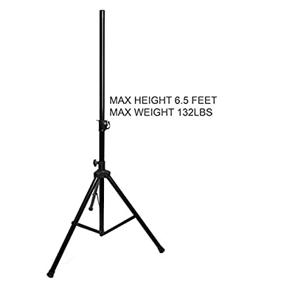 EMB Professional Pair of SS06 Heavy Duty 6.5FT Tripod Speaker Stage Stands/Set of 2