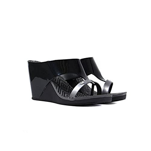 new Zaxy Womens Black Glamour 2 Wedge Sandals for cheap