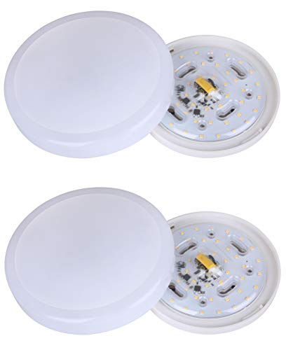 Yeuloum 7 inch LED Flush Mount Ceiling Light Fixture, Dimmable, 800 Lumen, 11W Repalce 75W, ETL/ES Rated, 2-Pack by YeuLoum