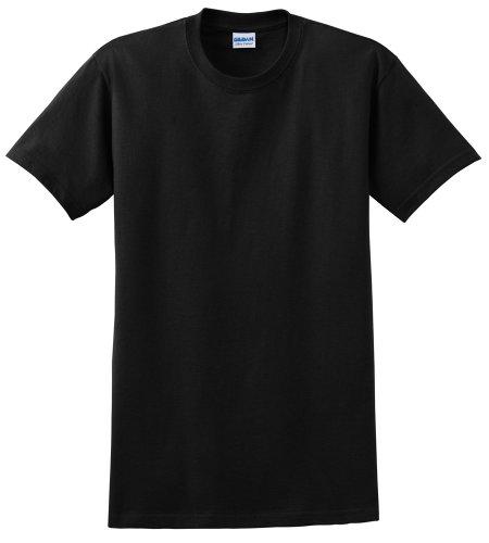 Gildan Men's Ultra Cotton Crewneck T-Shirt, Black, - Big Mens Gildan Tee Crewneck