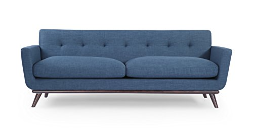 Cheap Kardiel Jackie Mid-Century Modern Classic Sofa, Blue Curacao Vintage Tailored Twill