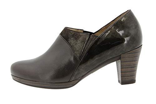 Calzado Piesanto Mujer Ancho De Zapato Caoba Confort 9312 Cómodo Abotinado Piel gIArgx7