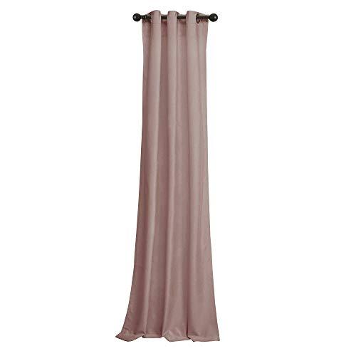 Velvet Eyelet - BRIGHTLINEN Vintage 100% Velvet 50 by 132 inches Thick Blackout Elegant Ring Top Eyelet Velvet Curtains Carnation