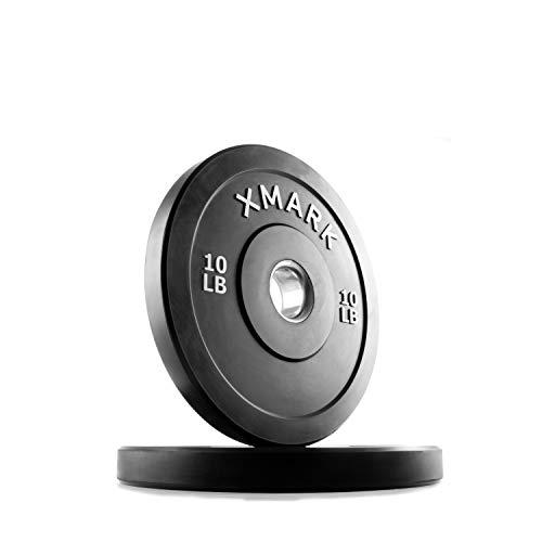 XMark Fitness XM-3385-10-P Bumper Plates ()