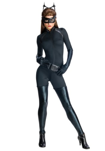 Secret Wishes Dark Knight Rises Adult Catwoman Costume, Black, Large