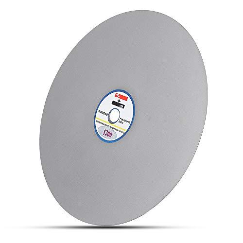 - 8 Inch Diameter Grit 1200 Diamond Coated Flat Lap Jewelry Grinding Wheel Polishing Sanding Disc