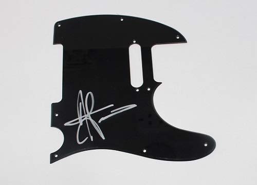 Staind It's Been Awhile Aaron Lewis Signed Autographed Fender Telecaster Electric Guitar Pickguard Loa