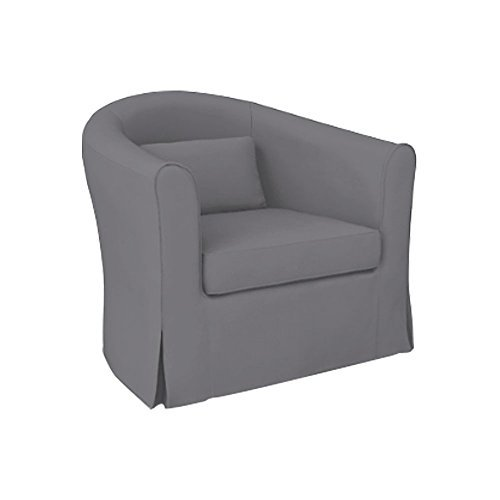 MastersofCovers Tullsta Armchair Cotton Cover for The IKEA Tullsta Chair Slipcover Replacement (Dark Grey) by MastersofCovers