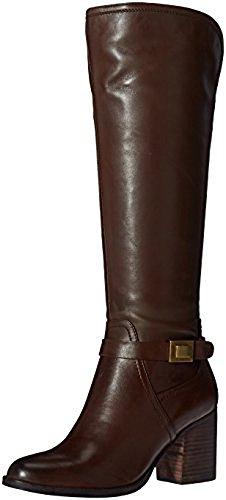 Franco Sarto Women's Arlette Wide Calf Riding Boot, Oxford Brown, 9 M - Oxfords Brown Calf