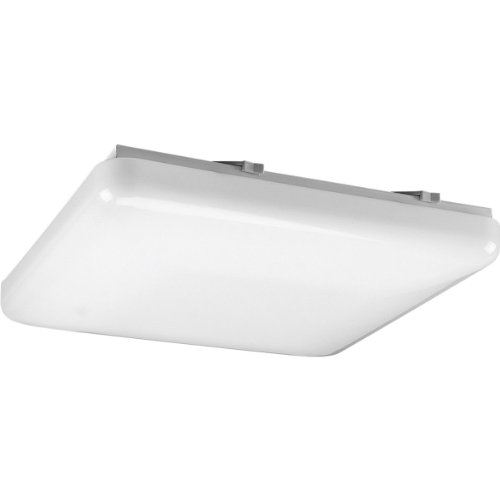 Progress Lighting P7379-30 Energy Efficient Long-Lasting Lamps with Acrylic Diffuser and Standard 120 Volt Normal Power Factor Ballasts That Can Be Wall Mounted UL Listed For Damp Locations, White