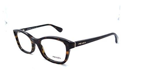 - Prada Rx Eyeglasses Frames Vpr 05p 2au-1o1 52x18 Havana Tortoise Made in Italy
