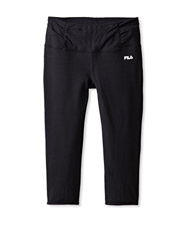 Fila Capri Tights - Fila Women's W Key Holes Capri Athletic Pants, Black, S