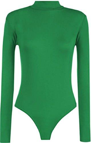 WearAll Damen T-Shirt Schwarz * Einheitsgröße Gr. 38-40, Jadegrün