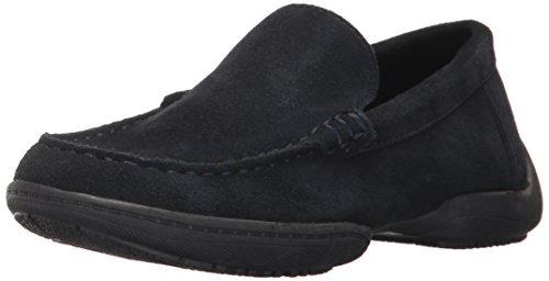 (Kenneth Cole REACTION Boys' Driving Dime Boat Shoe, Indigo, 5 M US Big Kid)