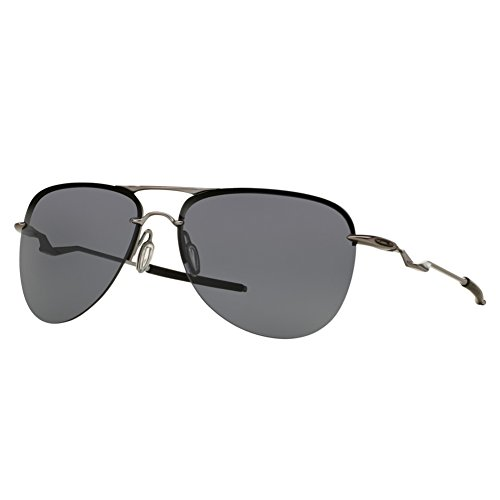 Oakley Men's Tailpin Non-Polarized Iridium Aviator Sunglasses, Lead, 61 - Oakley Tailpin