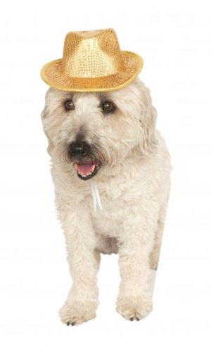 Rubies Costume Company Fedora Pet Costume Accessory, Small/Medium, Gold (Dog Detective Costume)