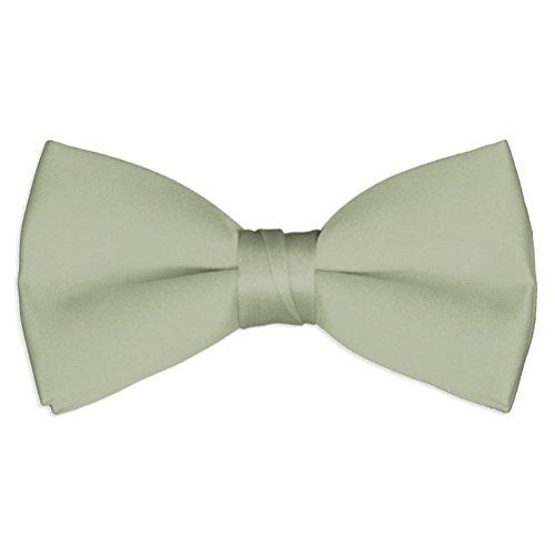 Mens Sage Green Satin Bow Tie (Green Satin Sage)