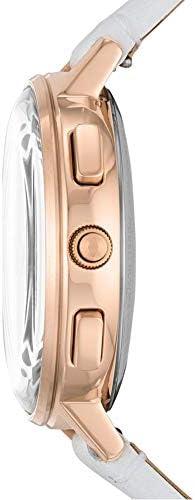 Fossil Hybrid Smartwatch Harper avec Bracelet en Cuir Blanc pour Femme FTW5048