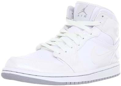 Nike Men's NIKE AIR JORDAN 1 PHAT BASKETBALL SHOES 9.5 (WHITE/WOLF GREY/WHITE)
