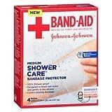 Johnson & Johnson Shower Care Bandage Protector, Medium, 4 ea - 2pc