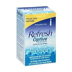 Refresh Optive Lubricant Eye Drops Single-Use Vials, 60