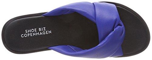 Shoe Biz Hedvig, Chaussons Mules Femme Bleu (Mestico Blue)