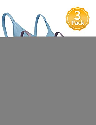 Nursing Bra for Women Breastfeeding Maternity Bralette 3 Pack Seamless Comfort Bras