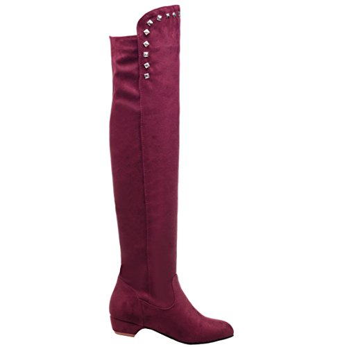 AIYOUMEI Women's Classic Boot Wine Red d8FguZyX