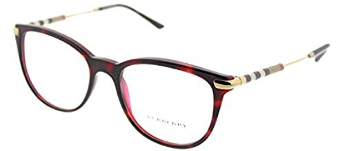 Burberry Women's BE2255Q Eyeglasses Top Havana On Bordeaux 53mm