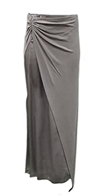 MAX&CO LIBRETTO Womens Silky Jersy Knit Combo Sarong Maxi Skirt Sz 2 Grey 150109MM