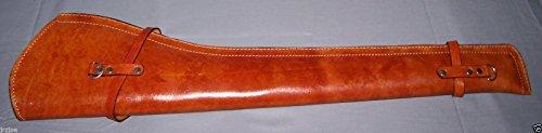 PLAIN Scabbard New (TAN Color) Genuine Leather Rifle Gun Saddle Scabbard NO Strap