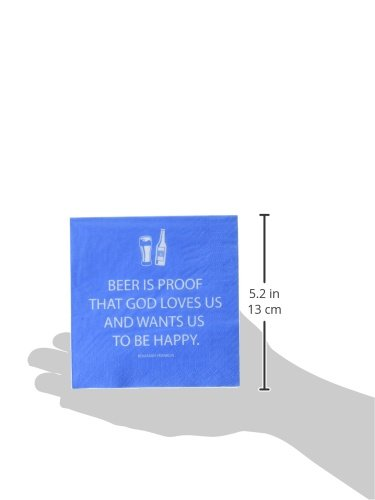 Paperproducts Design Paper Napkins (20 Pack), Beer is Proof That God Loves Us, Multicolor by Paperproducts Design (Image #2)