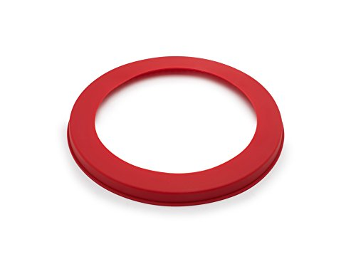 Fox Run 6055 Pie Crust Protector, Silicone, 9.5-Inch, Red
