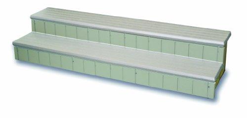 QCA Spas LASS74G Two Toned Hot Tub Step, 74-Inch, Gray by QCA Spas