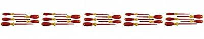 Wiha 32091 5-Piece 1000-Volt Slotted and Phillips Insulated Screwdriver Set by Wiha