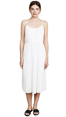 Dress Pleated Vince (Vince Women's Pleated Cami Dress, Off White, Medium)