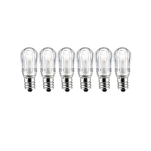 - Sunlite 41069-SU LED Night Light Bulb S6 Indicator Lightbulb Non Dimmable, Chandelier E12 Base, 6 Pack, Warm White